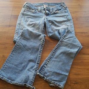 TRUE RELIGION light wash denim jeans old school